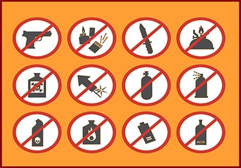 کالاهای غیر مجاز و ممنوع در حمل هوایی بار فریت مسافری (حمل با هواپیما)