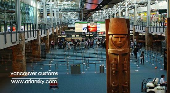 ترخیص کالا از گمرک فرودگاه ونکوور کانادا
