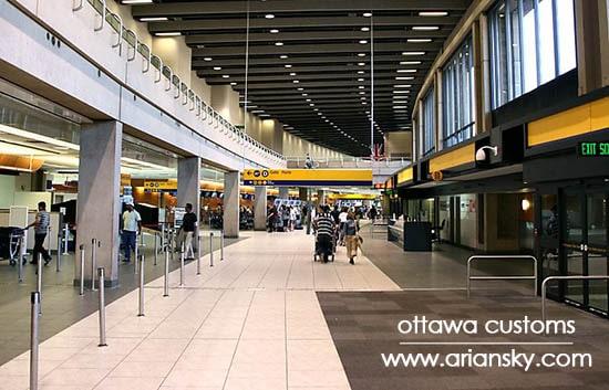 ترخیص کالا از گمرک فرودگاه اتاوا کانادا